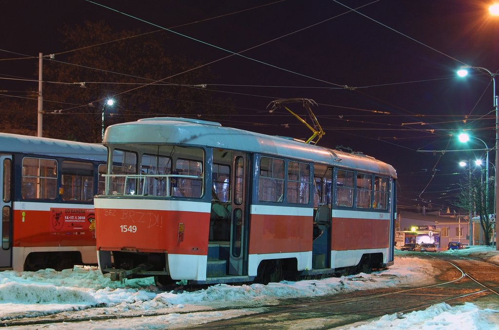 Fotogalerie » ČKD Tatra T3 1549 | Brno | vozovna Medlánky