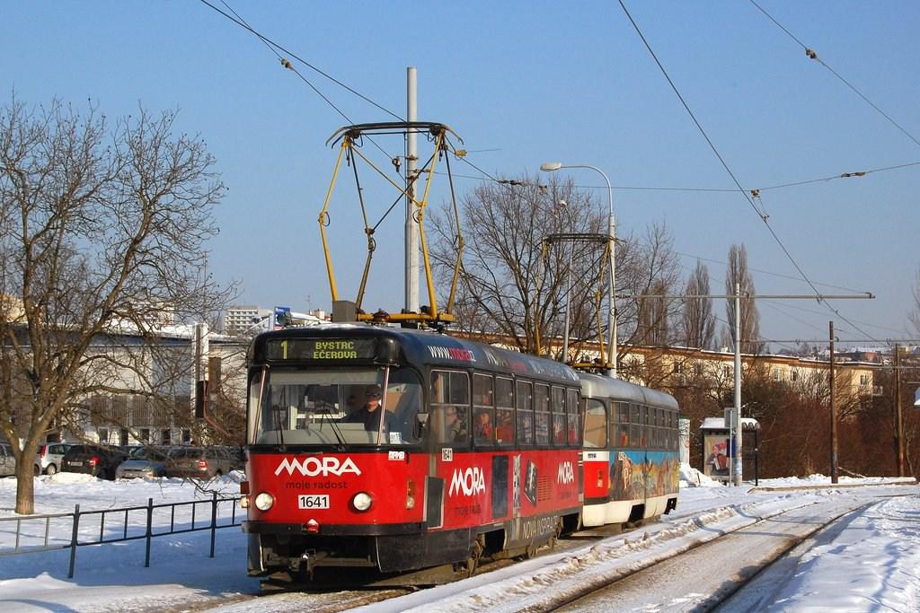 Fotogalerie » ČKD Tatra T3G 1641 | ČKD Tatra T3G 1642 | Brno | Žabovřesky | Stránského