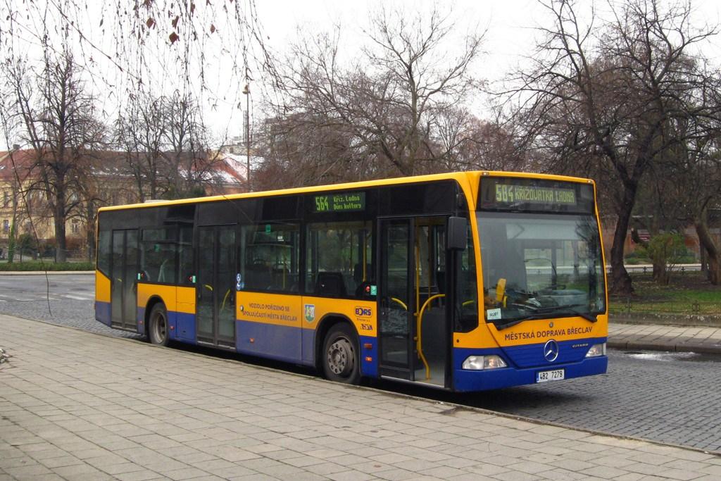 Fotogalerie » Mercedes-Benz Citaro 12M 4B2 7279 | Břeclav | Stromořadí | Železniční stanice