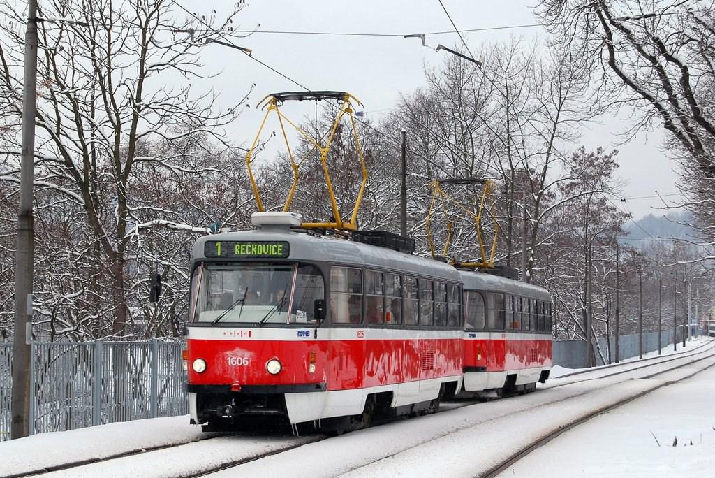 Fotogalerie » ČKD Tatra T3G 1606 | ČKD Tatra T3G 1608 | Brno | Pisárky | Hlinky