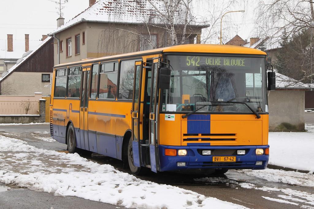 Fotogalerie » Karosa C934E.1351 BVI 67-42 | Velké Bílovice | Lipová | Velké Bílovice, autobusové nádraží