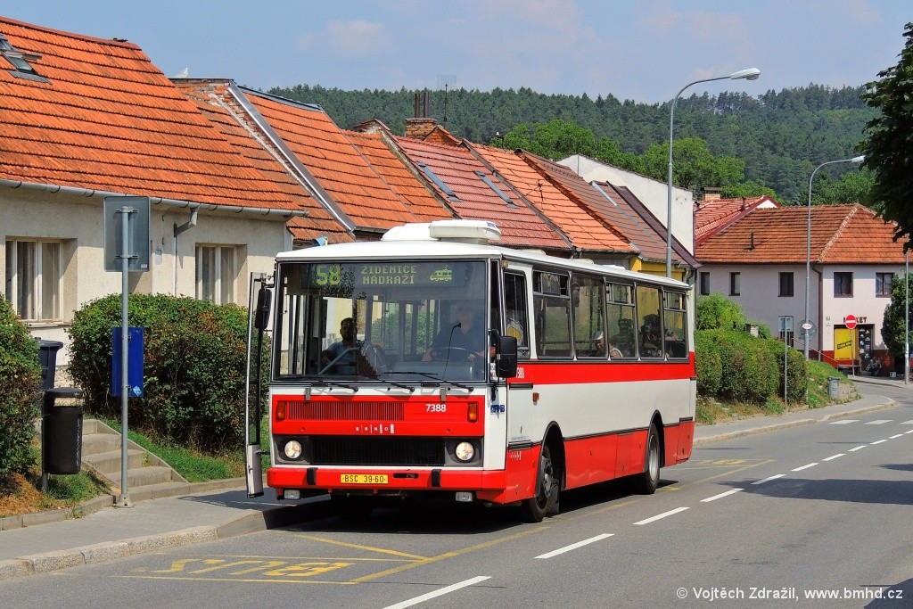 Fotogalerie » Karosa B732.1654.3 BSC 39-60 7388 | Brno | Líšeň | Šimáčkova | Šimáčkova