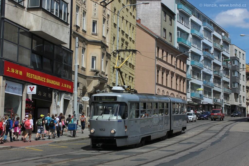 Fotogalerie » ČKD Tatra K2P 1052 | Brno | Staré Brno | Pekařská