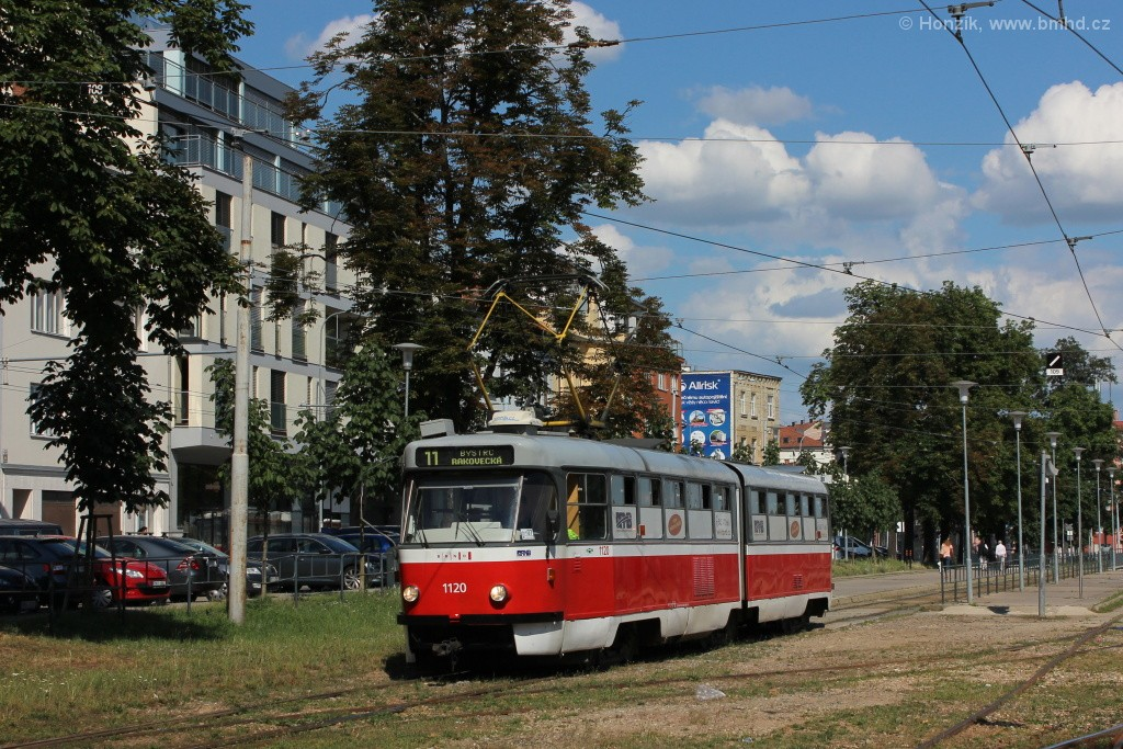 Fotogalerie » ČKD Tatra K2 1120 | Brno | Pisárky | Hlinky