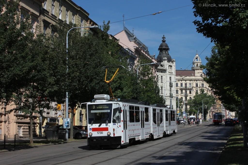 Fotogalerie » ČKD Tatra KT8D5N 1730 | Brno | střed | Veveří