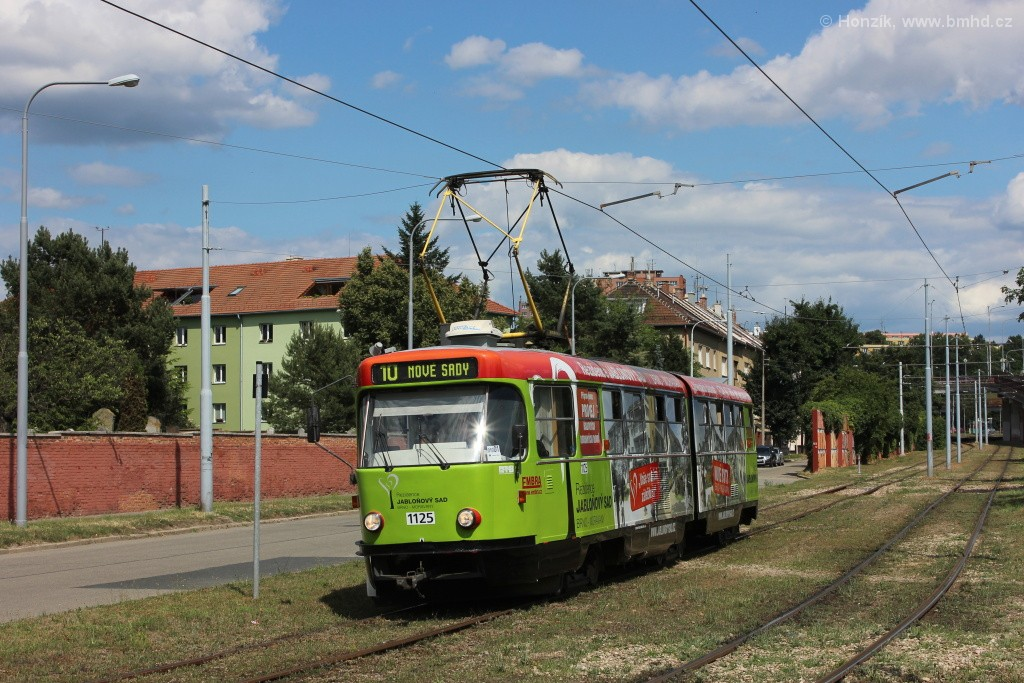 Fotogalerie » ČKD Tatra K2 1125 | Brno | Židenice | Nezamyslova