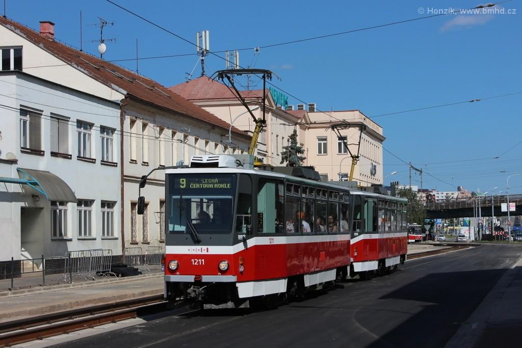 Fotogalerie » ČKD DS T6A5 1211 | ČKD DS T6A5 1212 | Brno | Černovice | Olomoucká