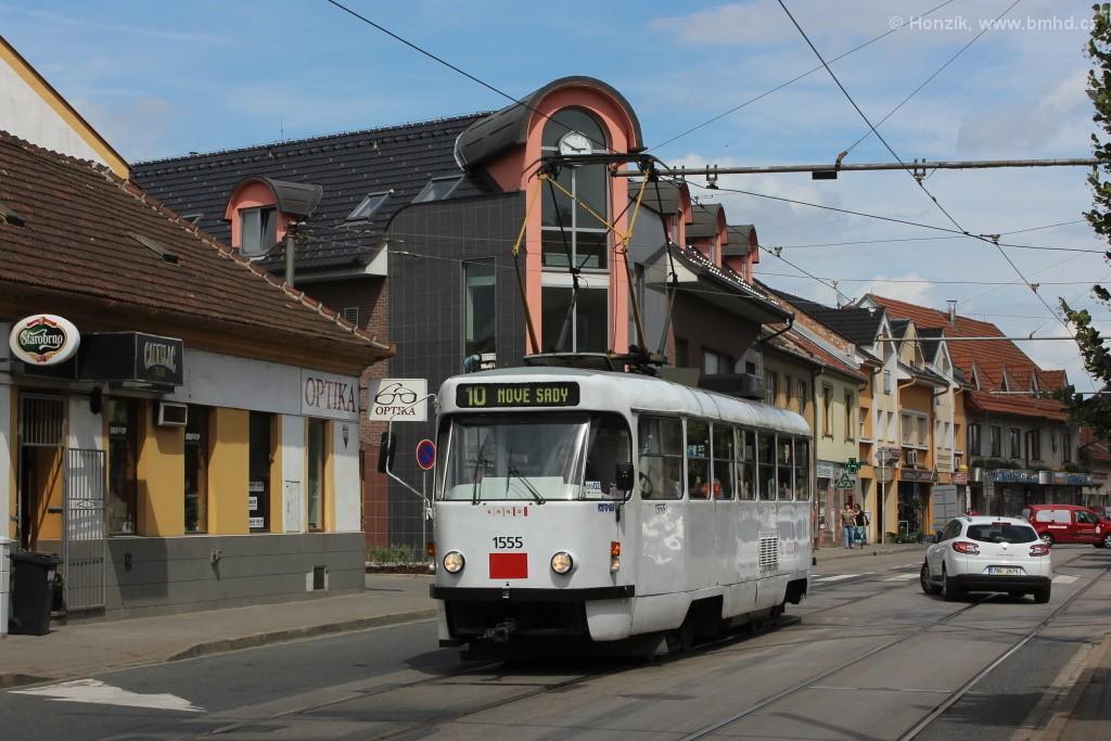 Fotogalerie » ČKD Tatra T3M 1555 | Brno | Židenice | Táborská
