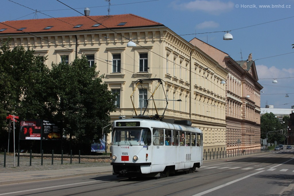 Fotogalerie » ČKD Tatra T3M 1555 | Brno | střed | Husova