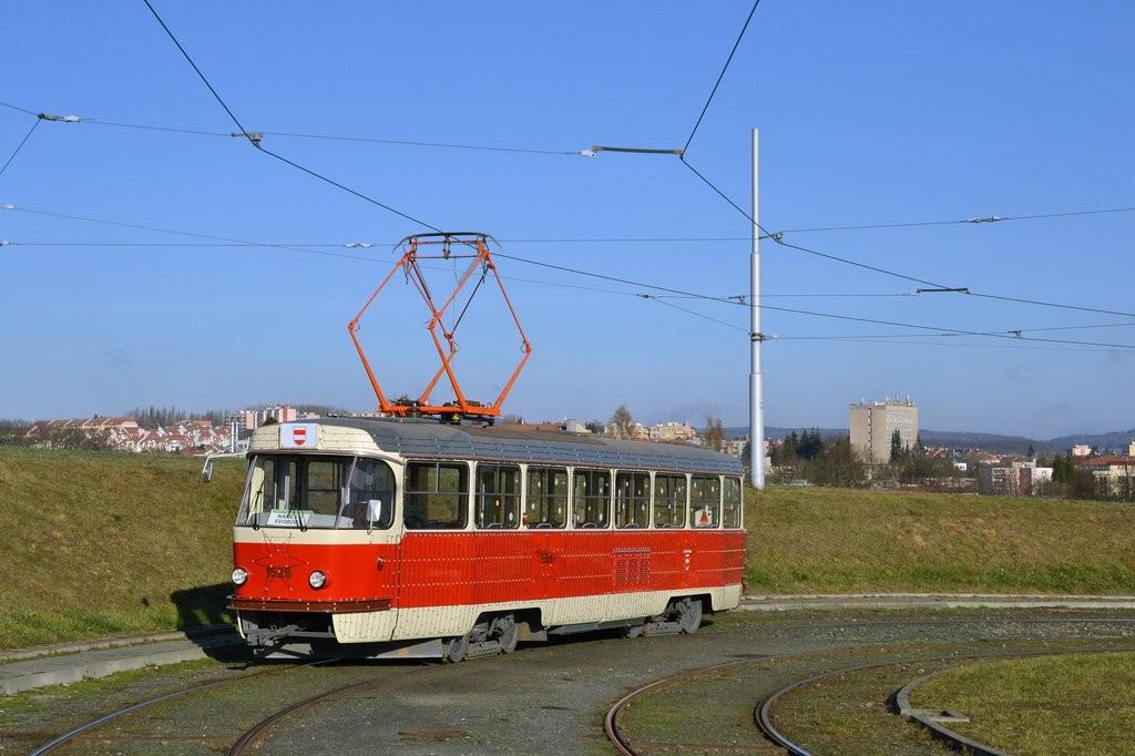 Fotogalerie » ČKD Tatra T3 1525 | Brno | Medlánky | Purkyňova | Technologický park, smyčka
