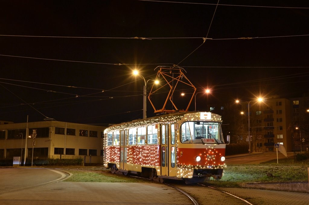 Fotogalerie » ČKD Tatra T3 1525 | Brno | Královo Pole | Budovcova | Královo Pole, nádraží