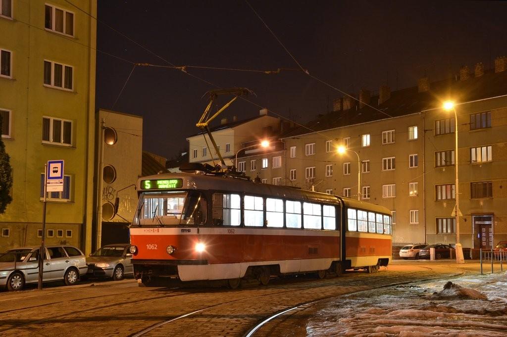 Fotogalerie » ČKD Tatra K2P 1062 | Brno | Černá Pole | Merhautova | Štefánikova čtvrť