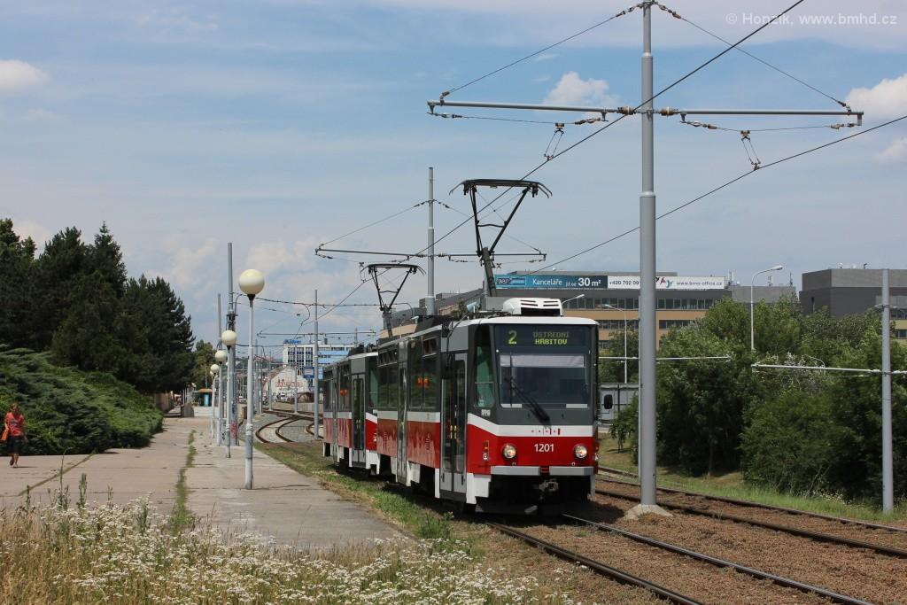 Fotogalerie » ČKD DS T6A5 1201 | ČKD DS T6A5 1202 | Brno | Štýřice | Vídeňská