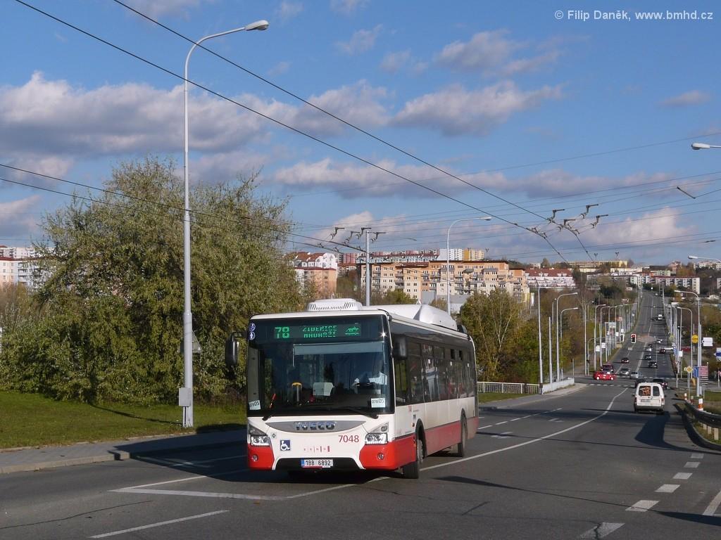 Fotogalerie » Iveco Urbanway 12M CNG 1BB 6892 7048 | Brno | Vinohrady | Věstonická