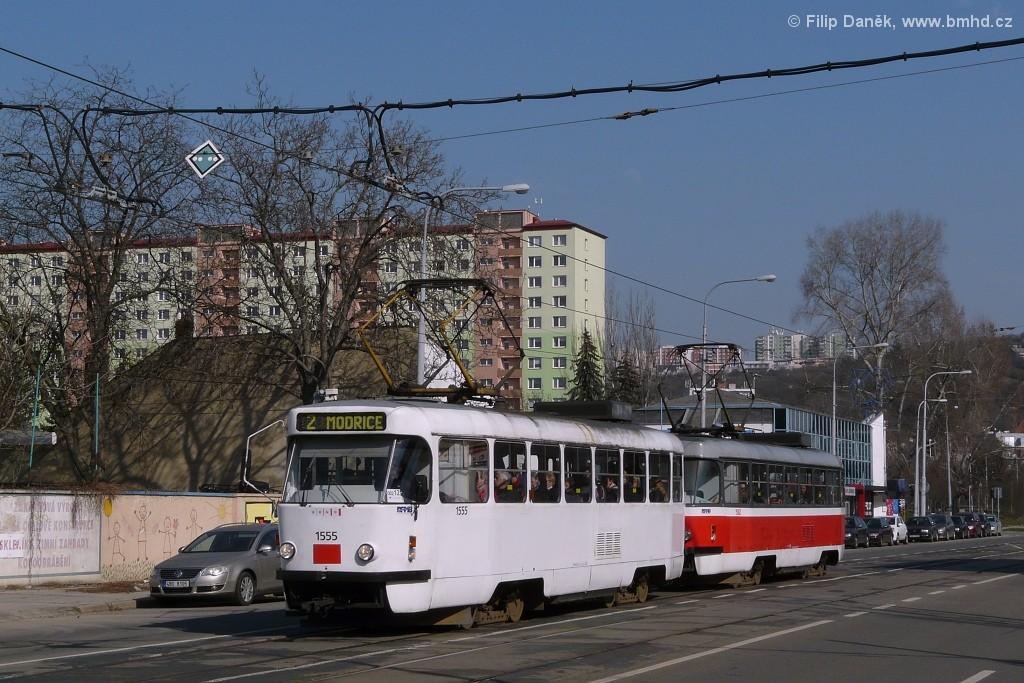 Fotogalerie » ČKD Tatra T3M 1555 | ČKD Tatra T3M 1582 | Brno | Židenice | Bubeníčkova