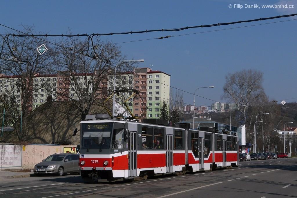 Fotogalerie » ČKD Tatra KT8D5R.N2 1715 | Brno | Židenice | Bubeníčkova