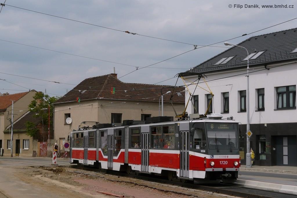 Fotogalerie » ČKD Tatra KT8D5R.N2 1720   Brno   Židenice   Životského