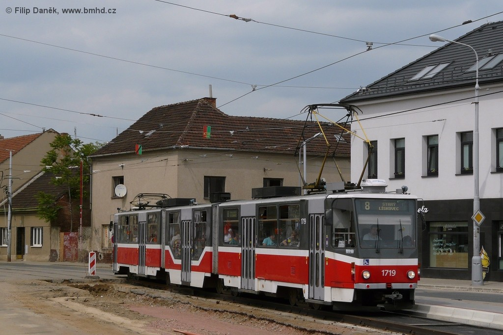 Fotogalerie » ČKD Tatra KT8D5R.N2 1719 | Brno | Židenice | Životského