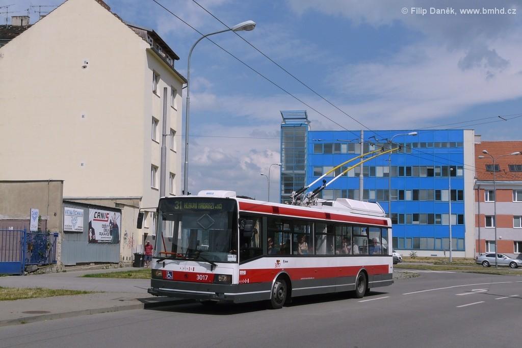 Fotogalerie » Škoda 21Tr 3017 | Brno | Trnitá | Mlýnská