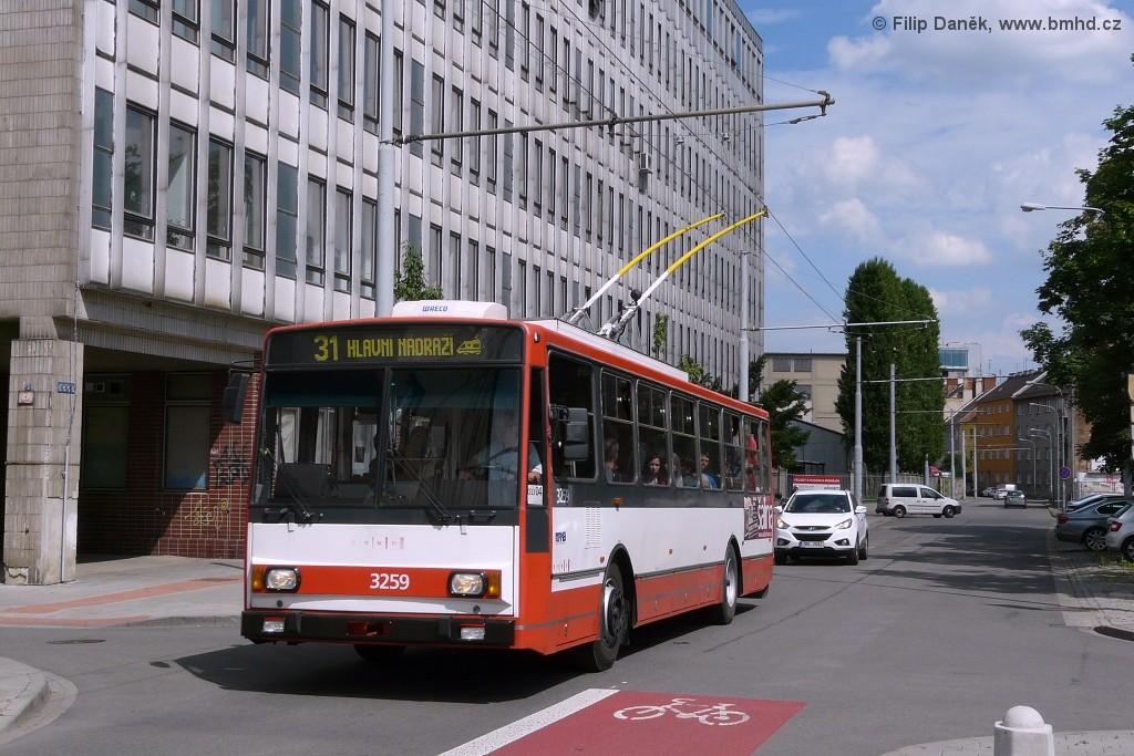 Fotogalerie » Škoda 14TrR 3259 | Brno | Trnitá | Šujanovo náměstí