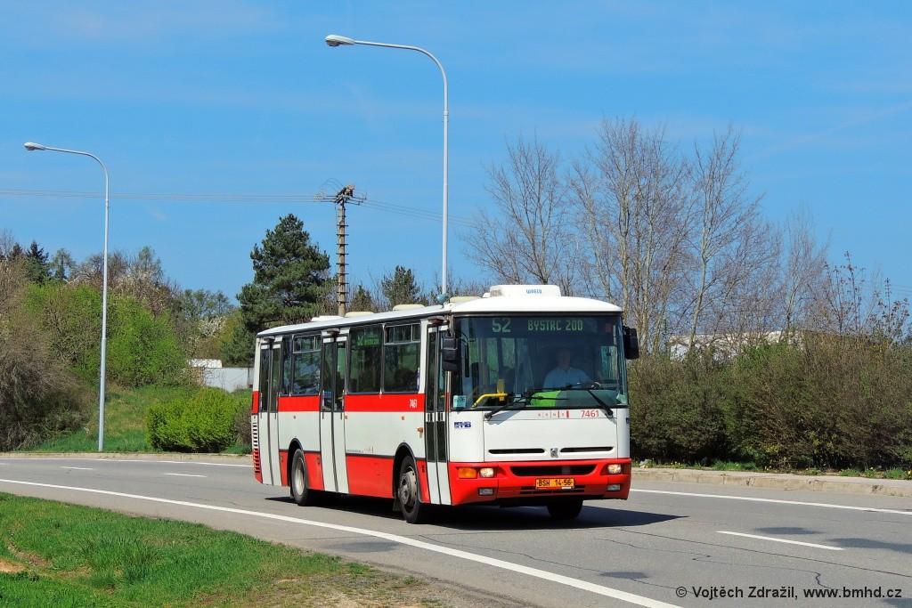 Fotogalerie » Karosa B931E.1707 BSH 14-56 7461 | Brno | Bystrc | Vejrostova