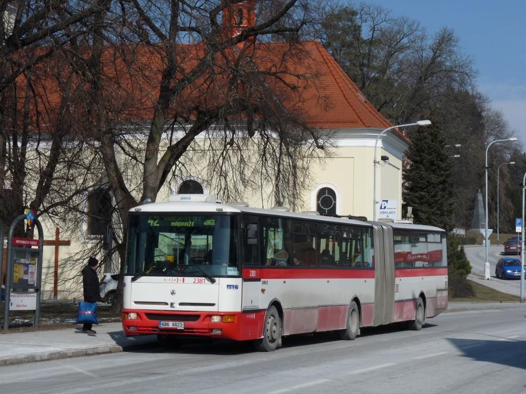 Fotogalerie » Karosa B961E.1970 6B6 6823 2381 | Brno | Řečkovice | Palackého náměstí