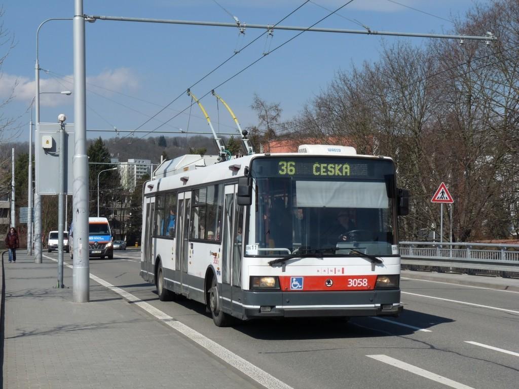 Fotogalerie » Škoda 21TrAC 3058   Brno   Žabovřesky   Korejská