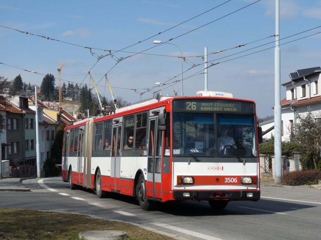 Fotogalerie » Škoda 15TrM 3506 | Brno | Nový Lískovec | Rybnická