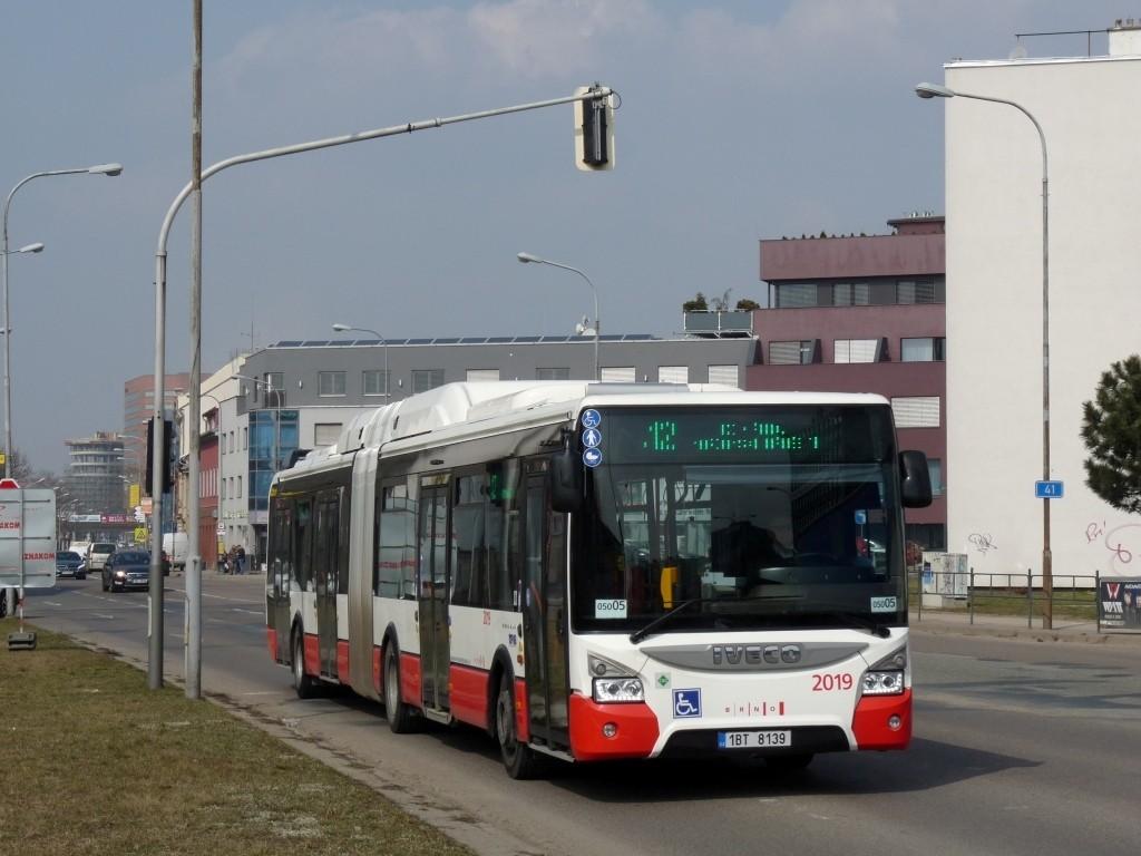 Fotogalerie » Iveco Urbanway 18M CNG 1BT 8139 2019 | Brno | Komárov | Svatopetrská