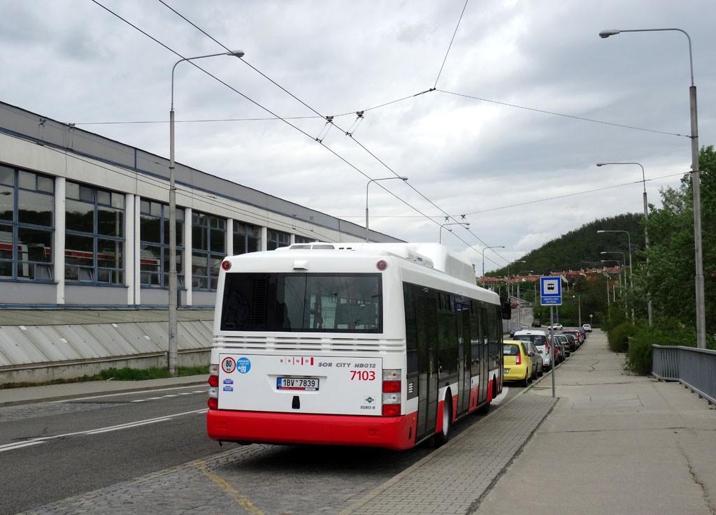 Fotogalerie » SOR NBG 12 1BV 7839 7103   Brno   Komín   Veslařská   Vozovna Komín