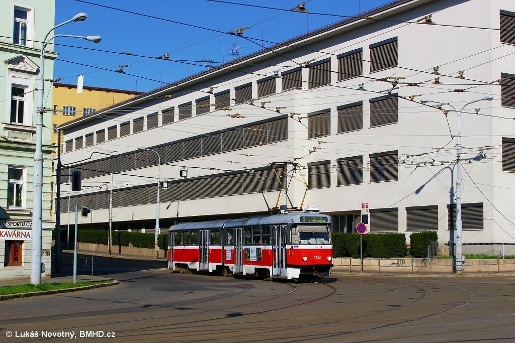 Fotogalerie » ČKD Tatra K2 1122   Brno   Černá Pole   Merhautova