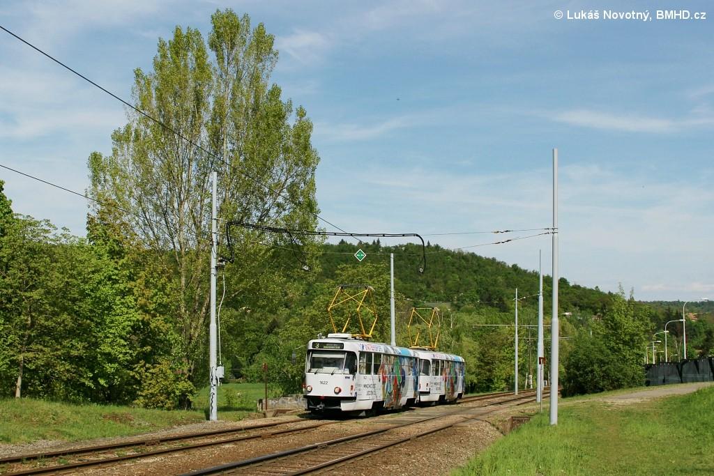 Fotogalerie » ČKD Tatra T3P 1622 | ČKD Tatra T3P 1623 | Brno | Bystrc