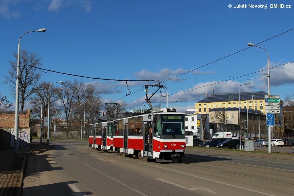 Fotogalerie » ČKD DS T6A5 1211 | ČKD DS T6A5 1212 | Brno | střed | Dornych