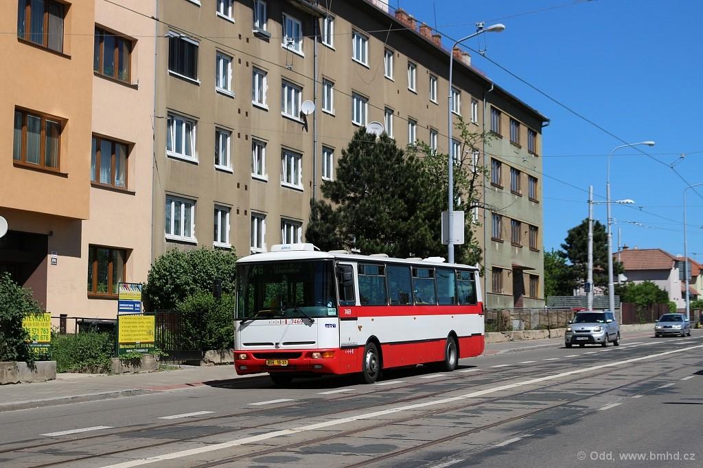 Fotogalerie » Karosa B931E.1707 BSH 16-31 7469 | Brno | Černá Pole | Merhautova
