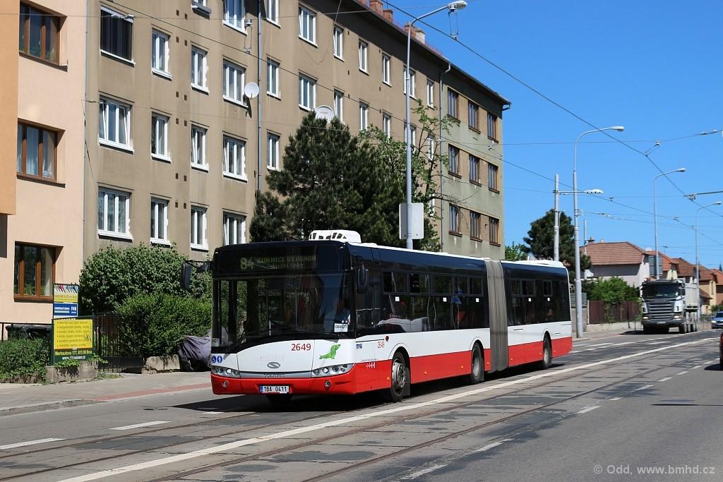 Fotogalerie » Solaris Urbino 18 III 1BA 0411 2649 | Brno | Černá Pole | Merhautova
