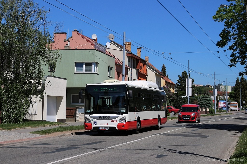 Fotogalerie » Iveco Urbanway 12M CNG 1BC 7532 7083   Brno   Slatina   Tuřanka