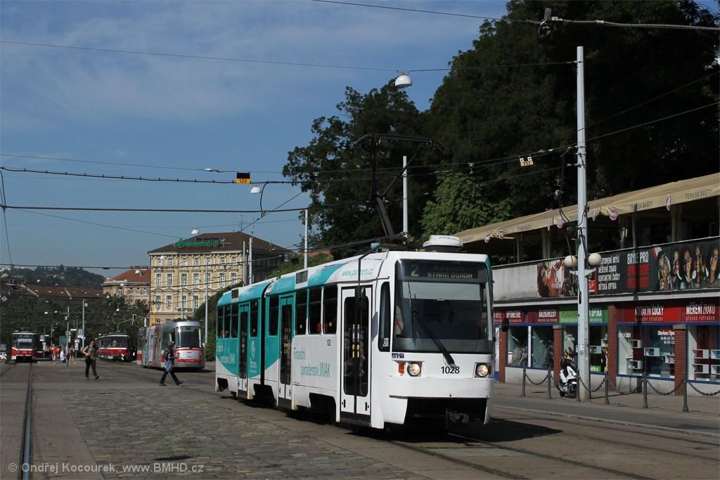 Fotogalerie » ČKD Tatra K2R 1028 | Brno | střed | Nádražní