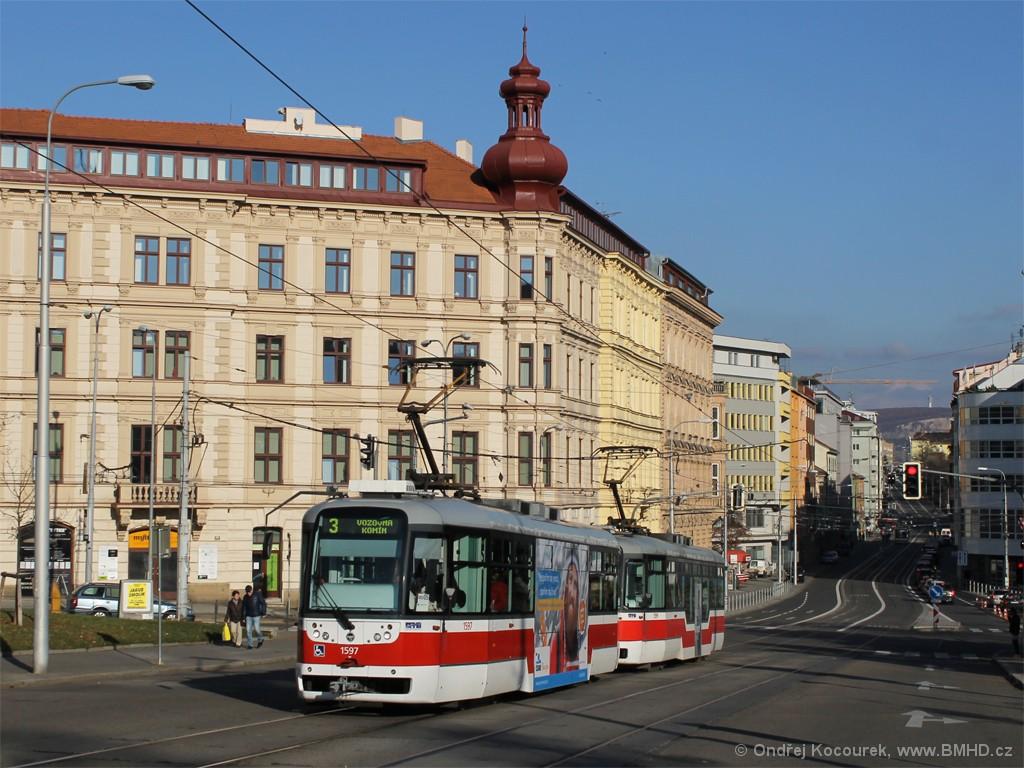 Fotogalerie » Pragoimex VarioLFR.E 1597 | Pragoimex VarioLFR.E 1599 | Brno | střed | Moravské náměstí