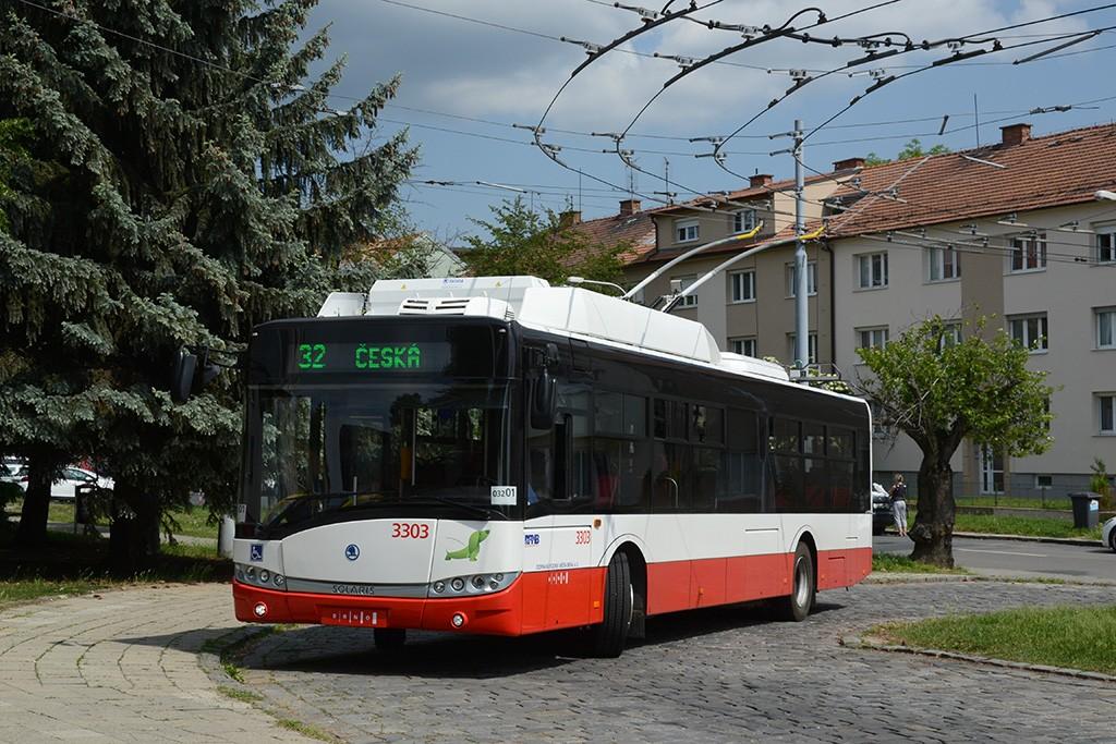 Fotogalerie » Škoda 26Tr 3303 | Brno | Královo Pole | Srbská | Srbská, smyčka
