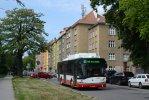Trolejbus 26Tr 3302 na odklonové trase linky 32 při výluce Chodská