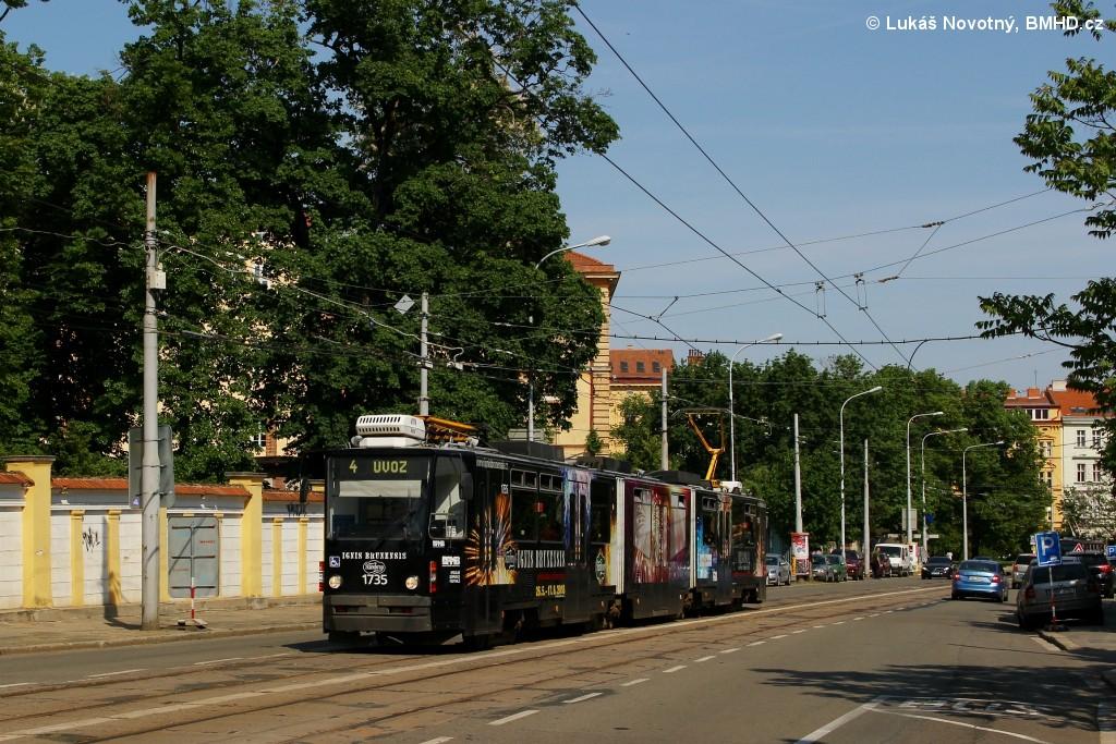 Fotogalerie » ČKD Tatra KT8D5N 1735 | Brno | střed | Údolní