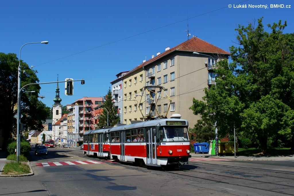 Fotogalerie » ČKD Tatra T3P 1595 | ČKD Tatra T3P 1564 | Brno | Štýřice | Vídeňská