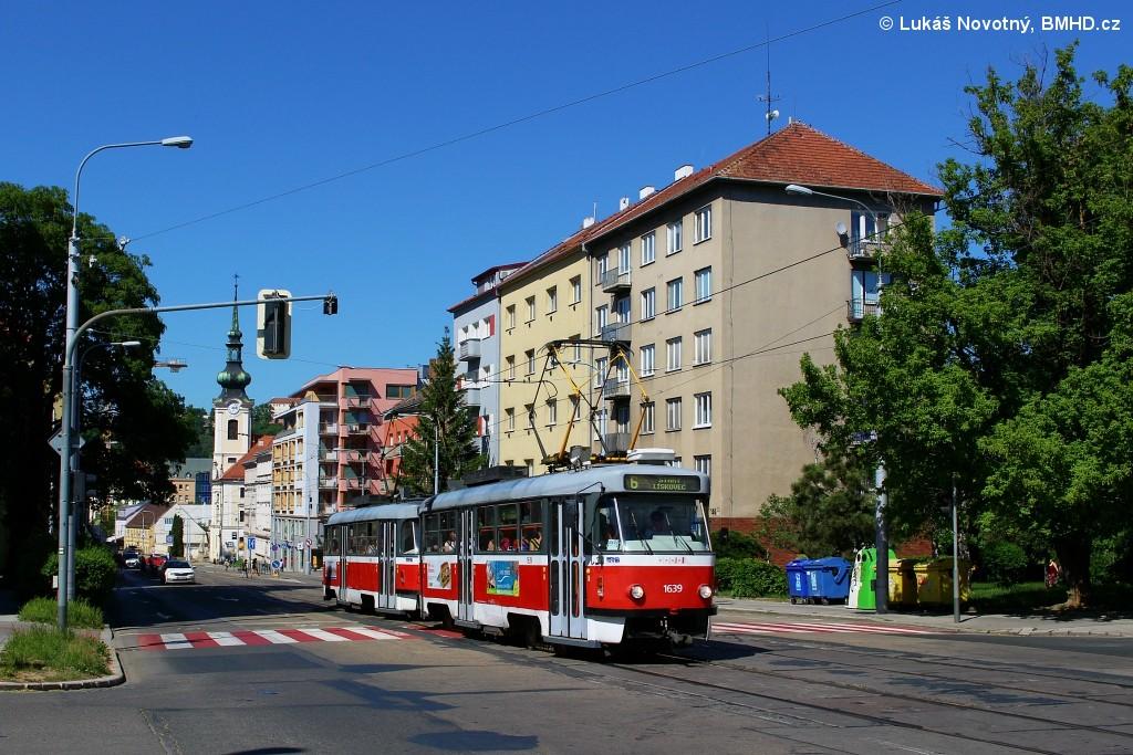 Fotogalerie » ČKD Tatra T3G 1639 | ČKD Tatra T3G 1640 | Brno | Štýřice | Vídeňská