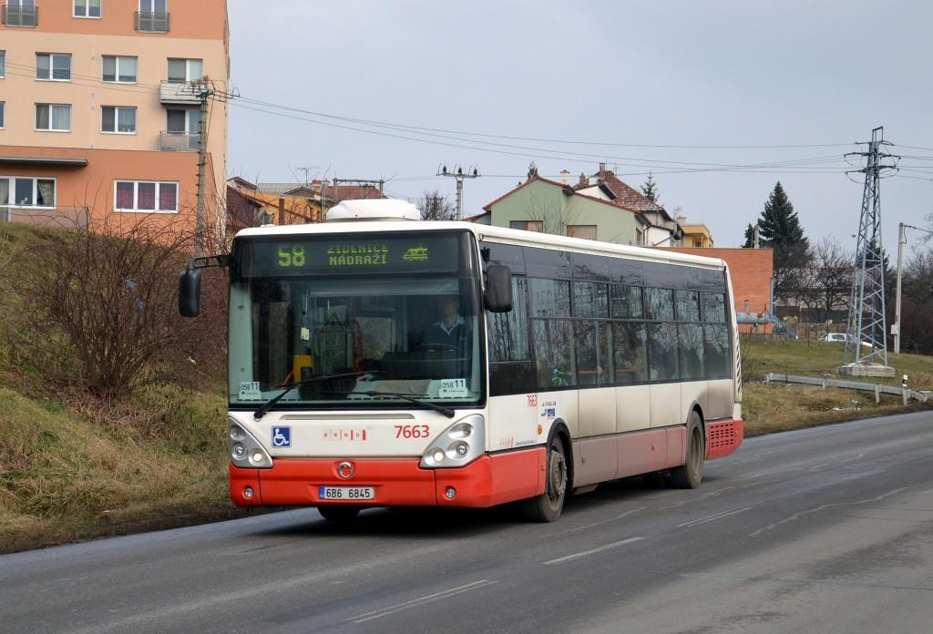 Fotogalerie » Irisbus Citelis 12M 6B6 6845 7663 | Brno | Líšeň | Trnkova