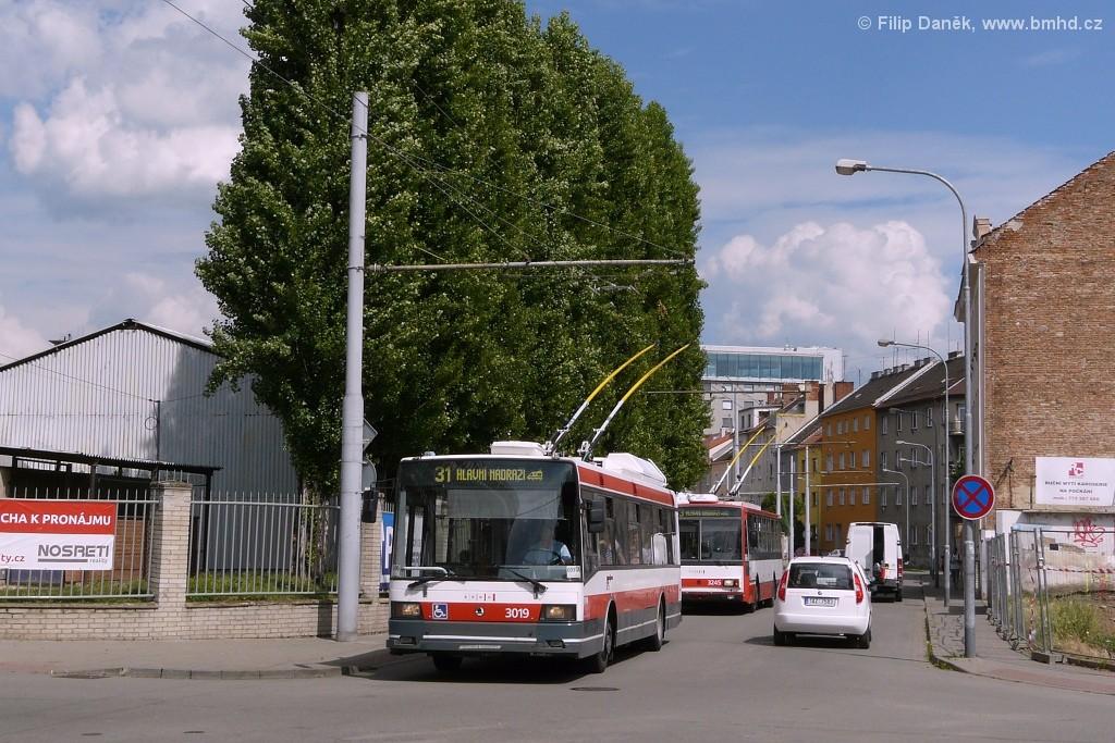 Fotogalerie » Škoda 21Tr 3019 | Brno | Trnitá | Mlýnská