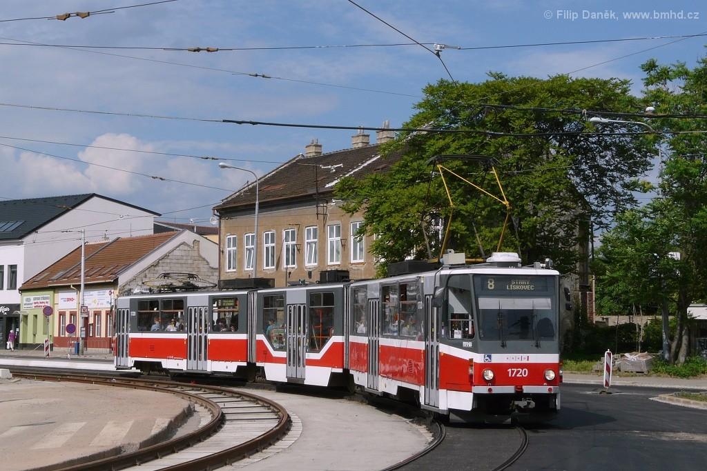 Fotogalerie » ČKD Tatra KT8D5R.N2 1720 | Brno | Židenice | Životského