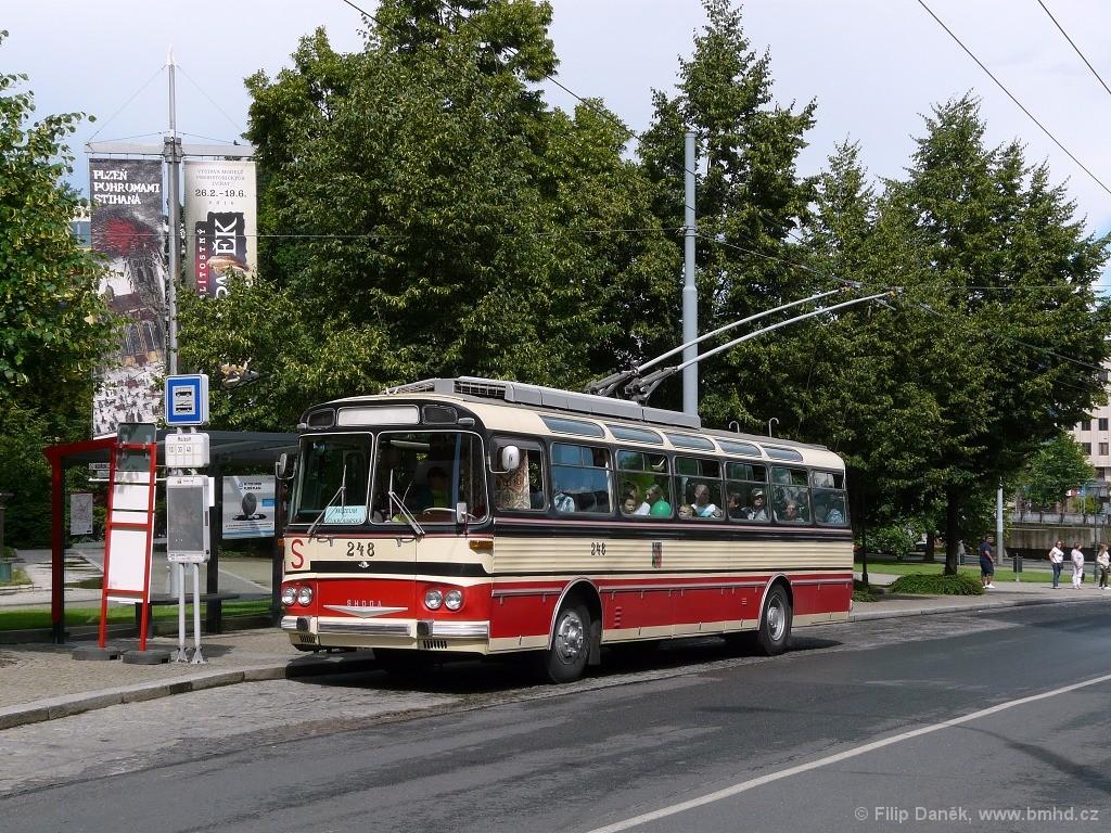 Fotogalerie » Škoda T11/0 248 | Plzeň | Vnitřní město | Kopeckého sady | Muzeum