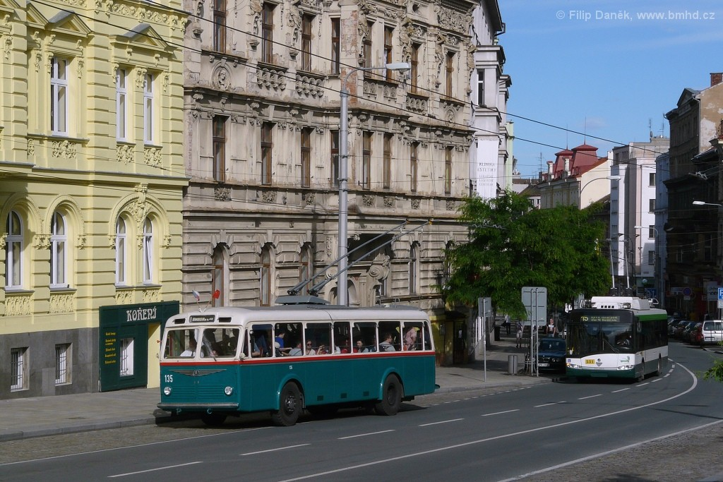 Fotogalerie » Škoda 6Tr2 135 | Plzeň | Americká