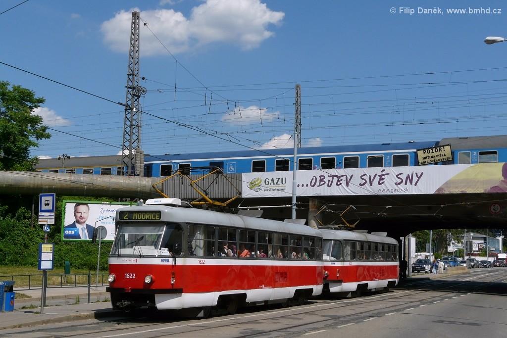 Fotogalerie » ČKD Tatra T3P 1622 | ČKD Tatra T3P 1623 | Brno | Židenice | Bubeníčkova | Kuldova