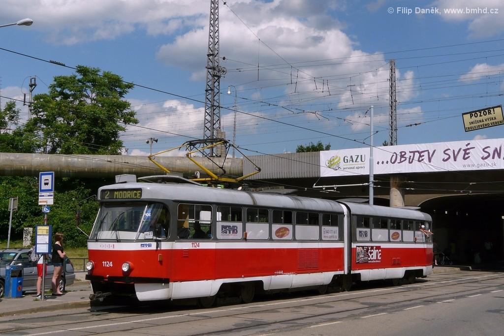 Fotogalerie » ČKD Tatra K2 1124 | Brno | Židenice | Bubeníčkova | Kuldova